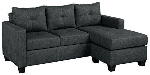 Homelegance Phelps 78' x 58' Fabric Reversible Chaise Sofa, Gray