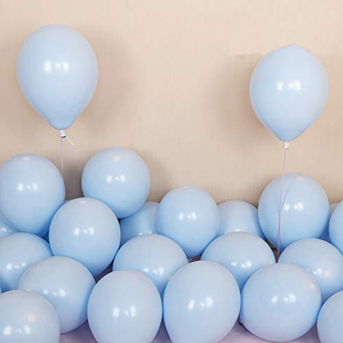 Pastel Blue Balloons 12 inch 50pcs Latex Party Balloons Baby Shower Helium Balloons Blue Birthday Balloon