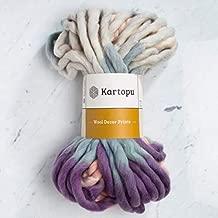 1 Skein Kartopu Melange Wool Decor Prints, 100% Superwash Wool, 7 Oz (200g) / 32 Yrds (30m), 7 Jumbo, Multicolor - D3155