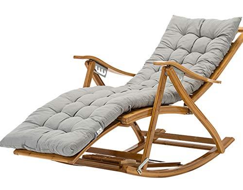 WZLL Gartenstuhl Auflagen Für Hochlehner Drinnen Draußen Schaukelstuhl Sitzkissen Kissen Weich Sitzpolster Für Chaise, Bank, Liege (Kein Stuhl) (Color : Gray, Size : 155x48x8cm)