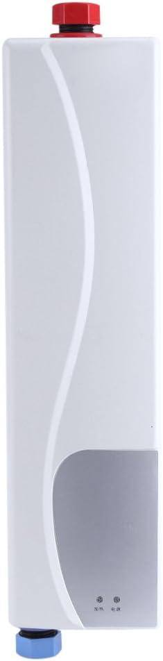 Mini-Durchlauferhitzer für Küche, automatisch, Warmwasserspeicher, 220 V, 3000 W, Warmwasserspeicher, Weiß