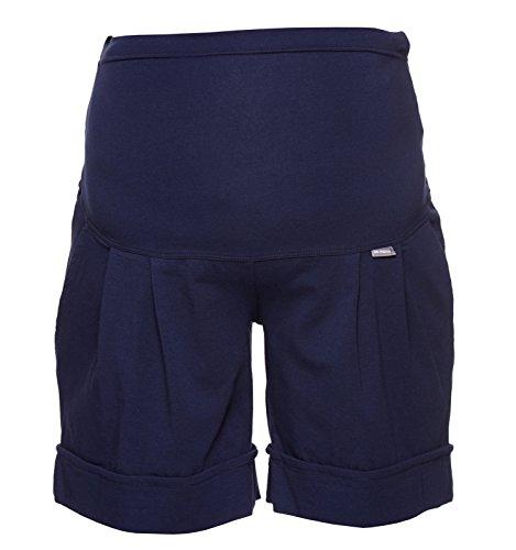 Be! Mama Umstandshose, Shorts für Schwangere, hochwertige Baumwolle, Modell: Sawyer (Marco), dunkelblau, SM