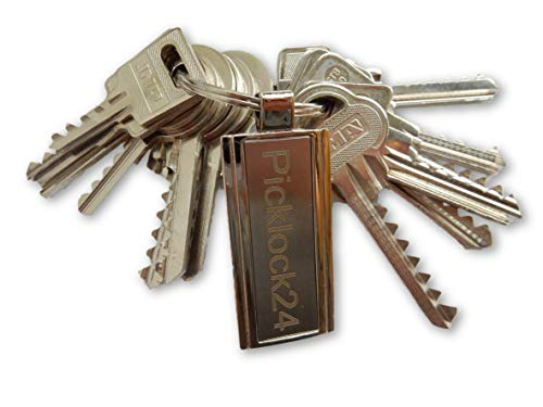 Picklock24. Juego de llaves maestras universales (bump keys - 13 llaves bumping)