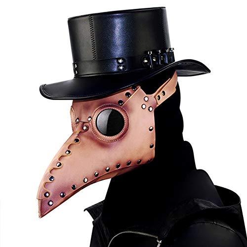 ACC snavel masker, pest dokter met lange neus snavel vogel hoofd masker, gotische steampunk lederen role-playing retro masker, halloween kerstbal kostuum props