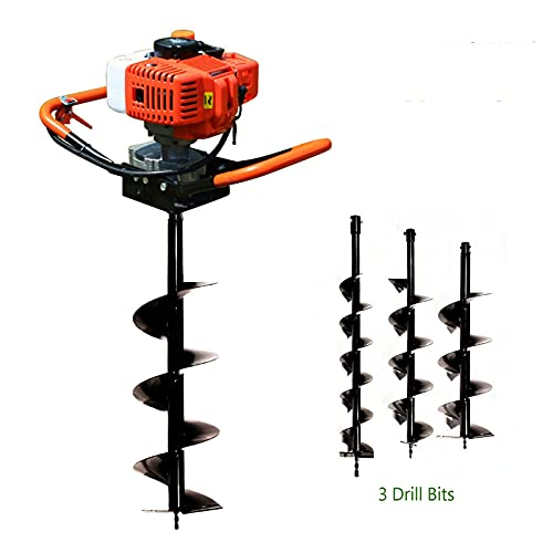 Dyrabrest 52cc Gas Powered Earth Auger Post Hole Digger Borer Fence Ground Drill 4