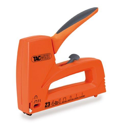 Tacwise Z3 4 en 1 - Grapadora / clavadora manual ligera para