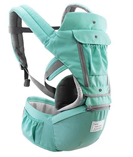 Bolsa canguru ergonômico bebê verde mamãe 12 posições 3 em 1