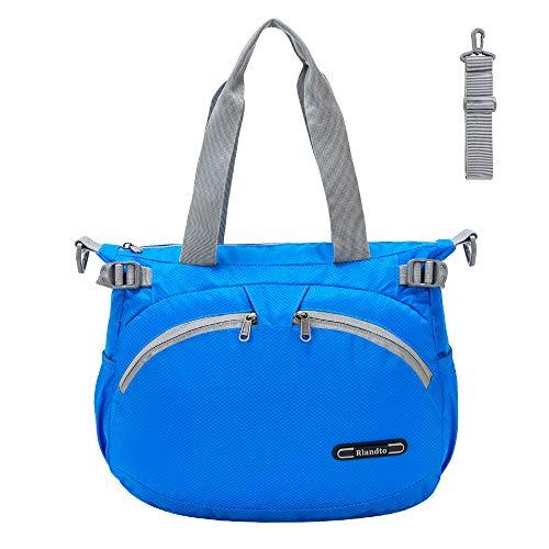 RLANDTO bolso nylon mujer, bandolera mujer ligera resistente al agua bolsos mujer nylon, correas ajustables incluidas