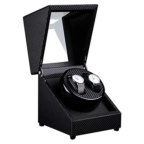 Secret night Binder de Doble Reloj para Relojes automáticos, Caja de enrollamiento con Motor súper Tranquilo, Almohada Flexible. Relojes de señora y Hombre.