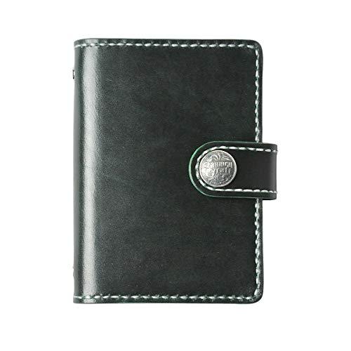 システム手帳 ルガトショルダー バインダーミニ6穴 グリーン コンチョ:SC-229