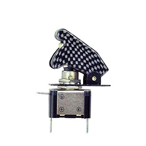 GUODONG MAYE2021 Auto Boat Car Truck Iluminado LED Toggle Interruptor con avión de Seguridad Flip Up Cover 12V 20A Racing Car Light Control Interruptores (Color : White Dot)