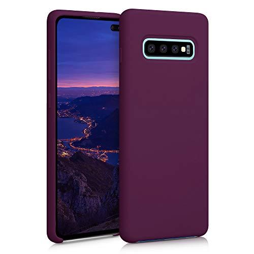 kwmobile Hülle kompatibel mit Samsung Galaxy S10 Plus - Hülle Handyhülle gummiert - Handy Hülle in Bordeaux Violett