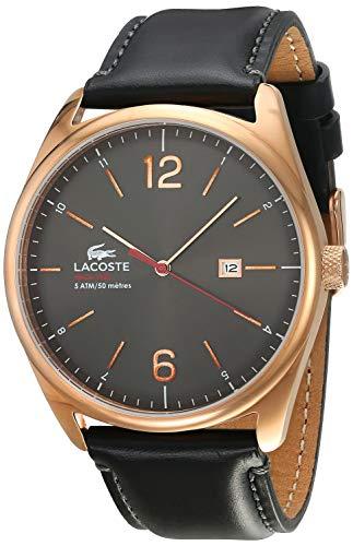 Lacoste Hommes Analogique Quartz Montre avec Bracelet en Cuir 2010747