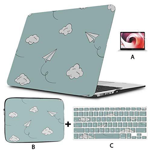 Estuche para Macbook de 13 Pulgadas Aviones de Papel Coloridos Flying Macbook Air Shell Hard Shell Mac Air 11'/ 13' Pro 13'/ 15' / 16'con Funda para portátil para Macbook Versión 2008-2020