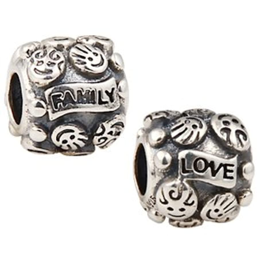 Family & Love Charm 925 925 Sterling Silver Letter Love Beads for Fashion Bracelets & Necklaces