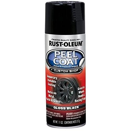 Rust-Oleum 297383 Automotive Peel Coat Spray Paint - Car Detailing Products (Gloss Black - 283 Grams)