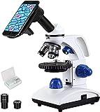 ESSLNB Microscopio Professionale 40X-1000X Microscopio Ottico con Adattatore Telefonico Metallo Oculare...