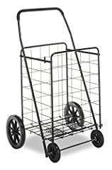 It's never been easier to transport jumbo loads and heavy items like laundry, groceries, and sports supplies with this extra large, deluxe utility cart With heavy-duty easy glide wheels, this cart is great for city dwellers, students, and elderly Col...