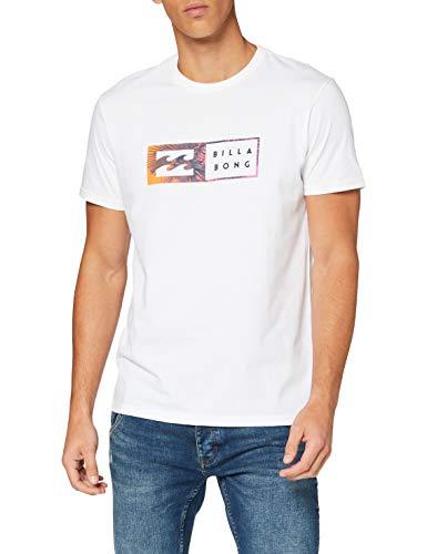 BILLABONG Inversed-Camiseta para Hombre, White, S