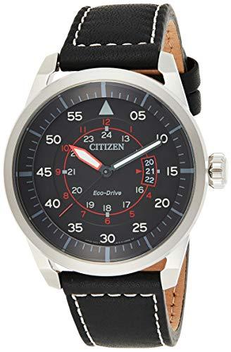 Citizen AW1360-04E - Reloj, Correa de Cuero Color Negro