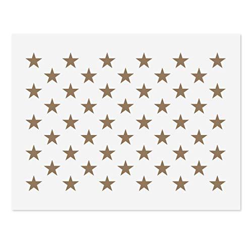 50 Sterne Schablone für Flagge, 10,5 x 14,82 Mylar-Schablone für amerikanische Flagge, 10,5 x 15 US Sterne Muster Schablone zum Bemalen von Holz & Wandkunst, wiederverwendbare USA Schablone