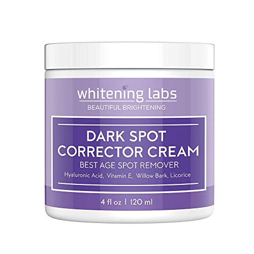 Skin Whitening Cream for Face. Dark Spot Corrector Best Age Spot Remover Hands, Body 4 OZ