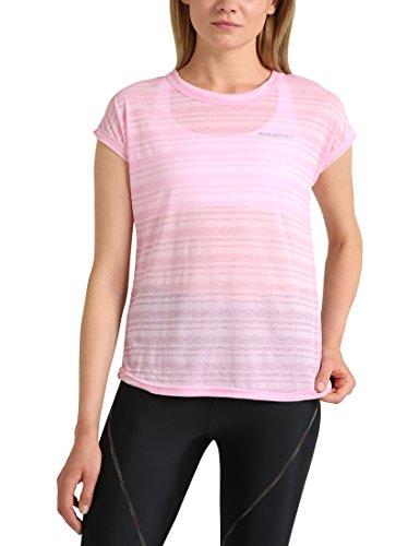 Preisvergleich Produktbild Ultrasport Endurance T-Shirt Skegness für Damen Top mit Rundhalsausschnitt und Ringelmuster aus Jersey,  Damen Basic,  Prism Pink,  40