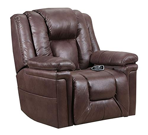 Lane Boss (Extra Large) Big Man Power Lift Recliner in Turbo Espresso with Duo Motors (Control Foot...