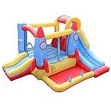 MXXQQ Aufblasbares Schloss Spielzeugplatz für Kinder, Kletterwand Aufblasbares Schloss Indoor...