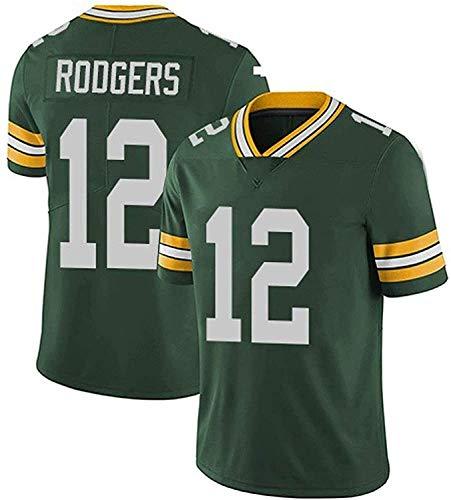 XYY Aaron Rodgers Jerseys, Packers # 12American Football Jersey, Versión Bordada, Camiseta 2021 Tribute Edition Edition Jersey (Color : Green, Size : 3XL)