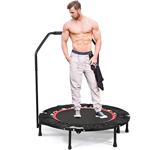 Exercise Trampoline with Handle Gymnastics Fitness Cardio Workout Jumper (Inclined Trampoline)