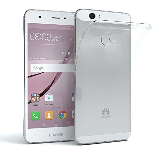 EAZY CASE Hülle kompatibel mit Huawei Nova Schutzhülle Silikon, Ultra dünn, Slimcover, Handyhülle, Silikonhülle, Backcover, Durchsichtig, Klar Transparent