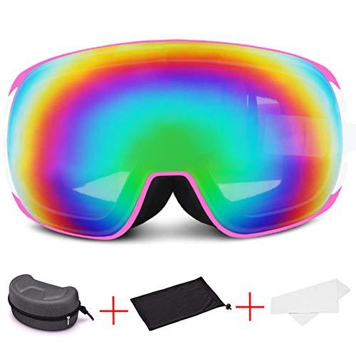 ZKAMUYLC Skibril 2019 Winter Vrouwen Goggles Skiën Dubbele PC Lens Sneeuwmobiele Bril Sport Snowboard Maskers Anti-mist Vrouwelijke Bril Sneeuw Volwassene