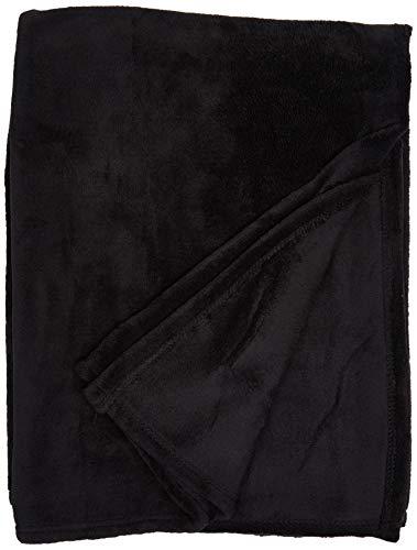 Soleil d'Ocre 512049 - Manta polar (microfibra de poliéster, 120 x 160cm), color negro