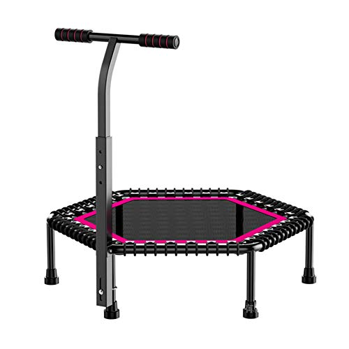 Lzww Fitness Trampoline with Adjustable T-Bar Stability Handle Home Exercise Trampoline Rebounder 42Inch, User Max Weight 150kg