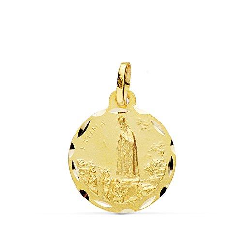 Medalla Virgen de Fátima 18 Ktes 16mm