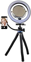 Makeup Mirror with 10-inch Ring Light [+1year Warranty] Two-Sided Mirror 1x/3x, Phone Holder, & Flexible Tripod