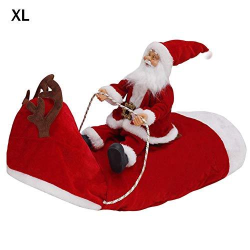 househome Disfraz de Perro Navidad Disfraz de Navidad para Perro con Santa Claus Riding Jersey de Navidad Rojo para Perros pequeños y medianos