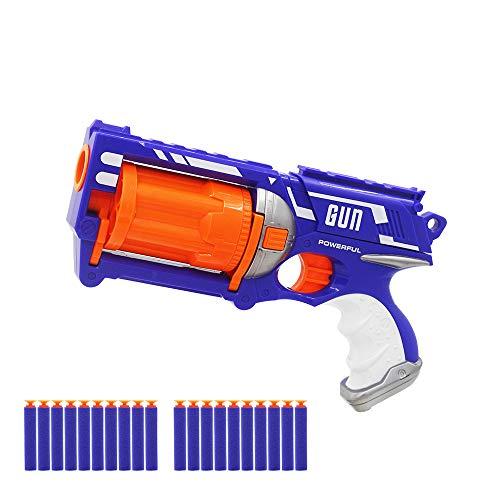 OYJD Elite Assault Shock Wave, Pistola de Juguete Manual de 6 ráfagas de Espuma Suave, Adecuada para Que Amigos y Familiares jueguen Juntos, 20 Dardos Especiales.