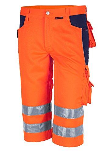Qualitex Warnschutz-Shorts PRO MG 245 - orange/marine - Größe: 54
