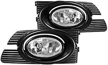 Spec-D Tuning Chrome Housing Clear Lens Fog Lights + H11 Bulbs Included for 2001-2002 Honda Accord 4D 4Dr Sedan Fog Light Lamp Assembly Left + Right Pair