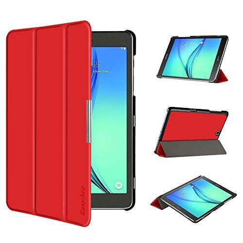 EasyAcc Ultra Slim Hülle für Samsung Galaxy Tab A 9.7 - mit Standfunktion & Automatischem Schlaf Funktion PU Leder Hülle - Rot