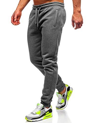BOLF Hombre Pantalón Deportivo De Chándal Jogger Pantalón de Algodón Estilo Urbano J.Style XW03 Grafito L [6F6]
