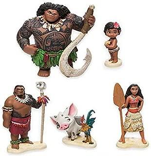 LAJKS 6Pcs/Set 6-12Cm Moana Princess Maui Chief Tui Tala Heihei Action & Toy Figures Teen Must Haves Favourite Movie Superhero Coloring UNbox Yourself