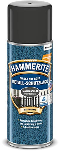 Hammerite Metall-Schutzlack HAMMERSCHLAG DUNKELGRAU 400ml Spray Metallschutzlack
