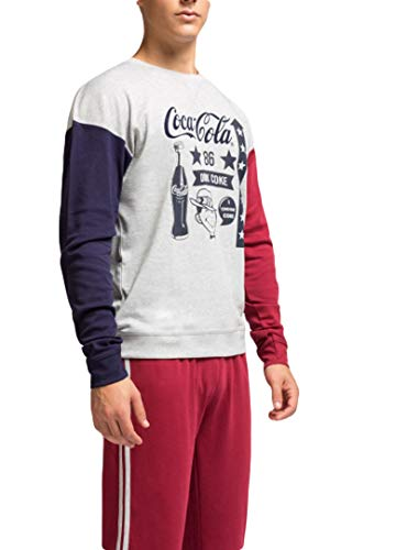 GISELA Pijama de Hombre Coca-Cola 2/1656 - Gris, XL
