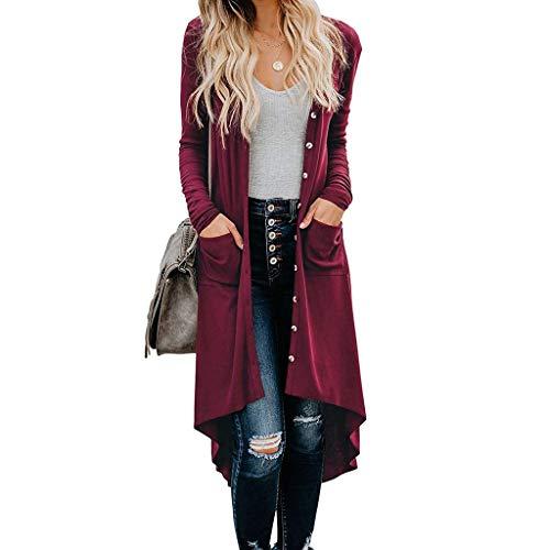 BIBOKAOKE Damen offene Cardigan Casual Taste Sweatshirt Lange Ärmel Damen-Mäntel Winter Strickjacken Outwear Oberteile