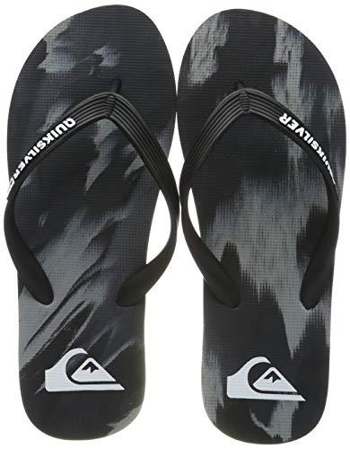 Quiksilver Molokai Marled-Flip Flops for Men, Zapatos de Playa y Piscina Hombre, Negro (Black/Grey/Black Xksk), 40 EU