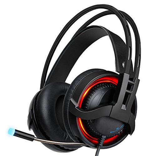 QNSQ Casque de Jeu monté sur la tête, Streamer coloré RGB refroidi par Eau, Interface USB, avec réduction du Bruit, adapté au Divertissement e-Sportif, Bureau