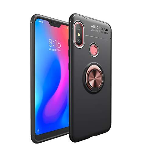 Funda Xiaomi Mi A2 Lite Teléfono Móvil Silicona Bumper Case Funda con Anillo Giratorio de 360 Grados Rotaria Ring Holder Protectora Caso (1, Xiaomi Mi A2 Lite)